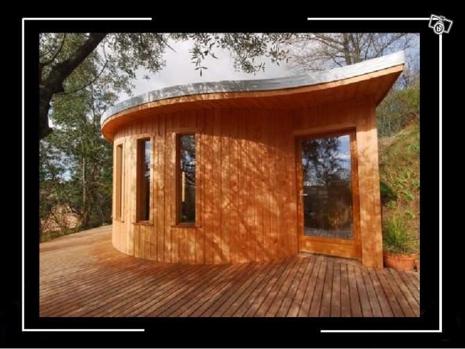 Studio bureau gîte spa annexe ossature bois cahors département