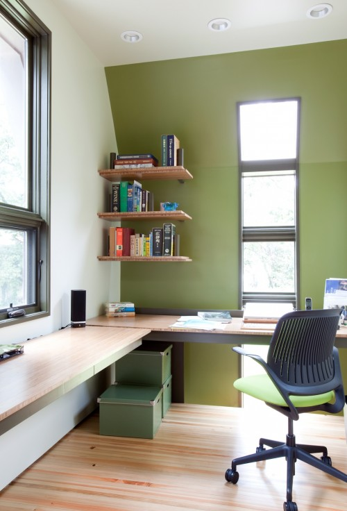 bureau moderne study interiors architecture. Black Bedroom Furniture Sets. Home Design Ideas