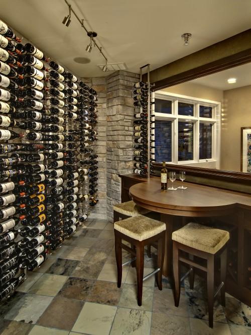 cave vin contemporain contemporary wine room. Black Bedroom Furniture Sets. Home Design Ideas