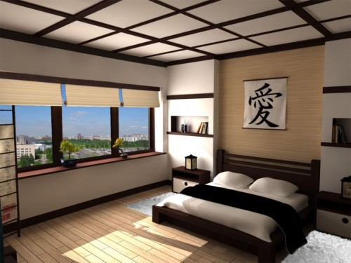 chambre asiatique japan bedroom architecture. Black Bedroom Furniture Sets. Home Design Ideas
