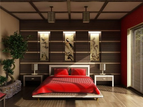Chambre asiatique japanese style bedroom architecture for Bureau style asiatique