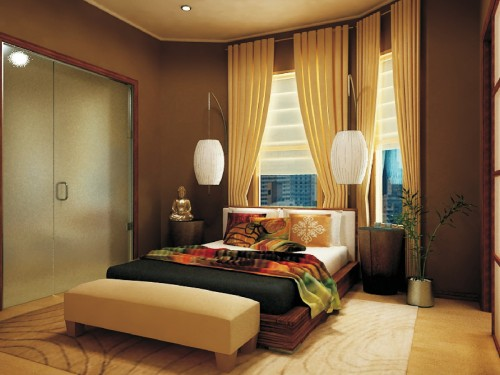 chambre asiatique city zen space architecture. Black Bedroom Furniture Sets. Home Design Ideas