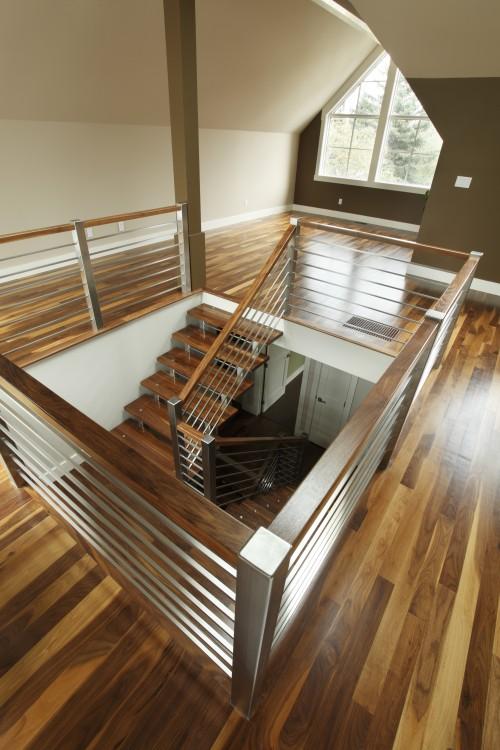 escalier contemporain loft architecture. Black Bedroom Furniture Sets. Home Design Ideas