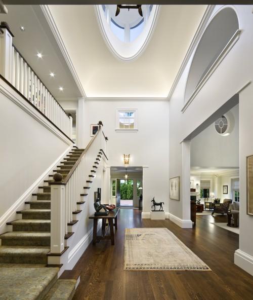 escalier contemporain first floor stairway architecture. Black Bedroom Furniture Sets. Home Design Ideas