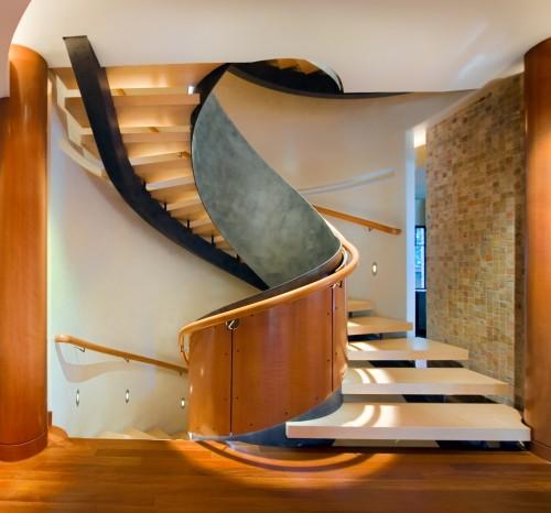 Escalier Moderne - Robert J Erdmann Design, LLC - Architecture