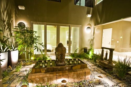 Exterieur asiatique zen atrium architecture for Exterieur zen