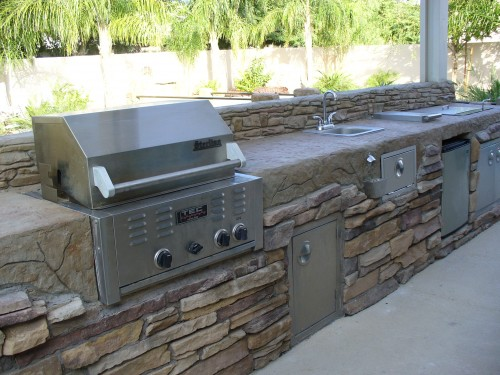 Patio Contemporain - Barbecue - Architecture