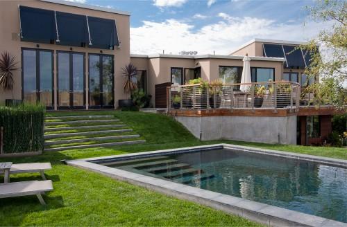 piscine moderne pool terrace architecture. Black Bedroom Furniture Sets. Home Design Ideas