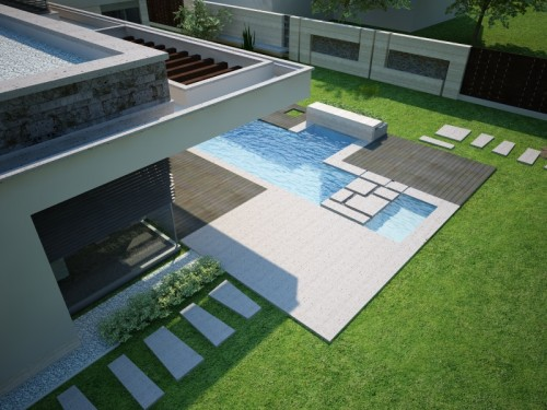 Piscine moderne fodor house architecture for Piscine moderne design