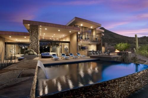 piscine moderne sefcovic residence architecture. Black Bedroom Furniture Sets. Home Design Ideas