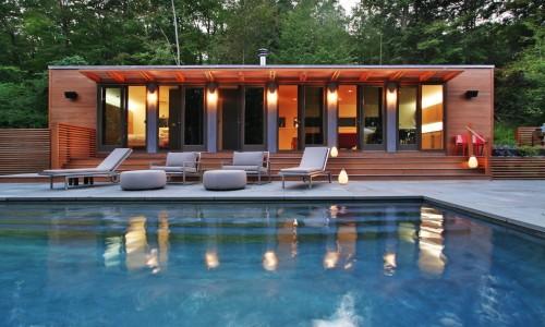 piscine moderne connecticut pool house exterior architecture. Black Bedroom Furniture Sets. Home Design Ideas