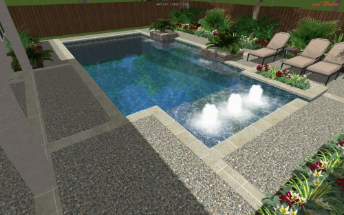 Piscine moderne cypress custom pools modern clean for Piscine moderne design
