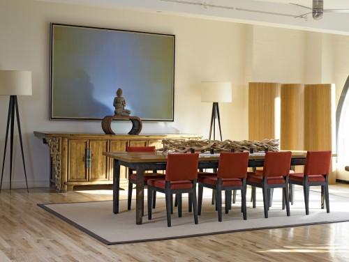 salle manger asiatique tribeca loft architecture. Black Bedroom Furniture Sets. Home Design Ideas