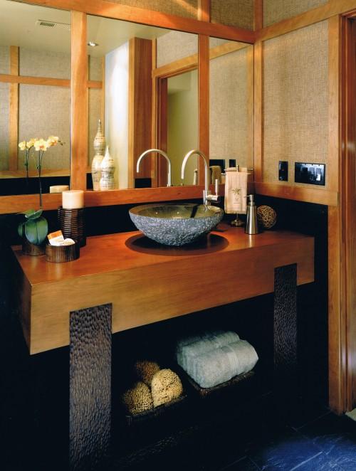 salle de bain asiatique - spencer guest bath - architecture - Salle De Bain Asiatique