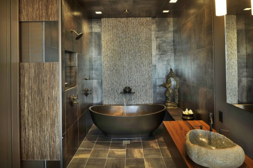 Salle de bain Asiatique - spas at home - Architecture