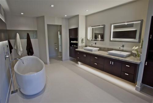 Salle de bain moderne master suite architecture - Salle de bain ultra moderne ...