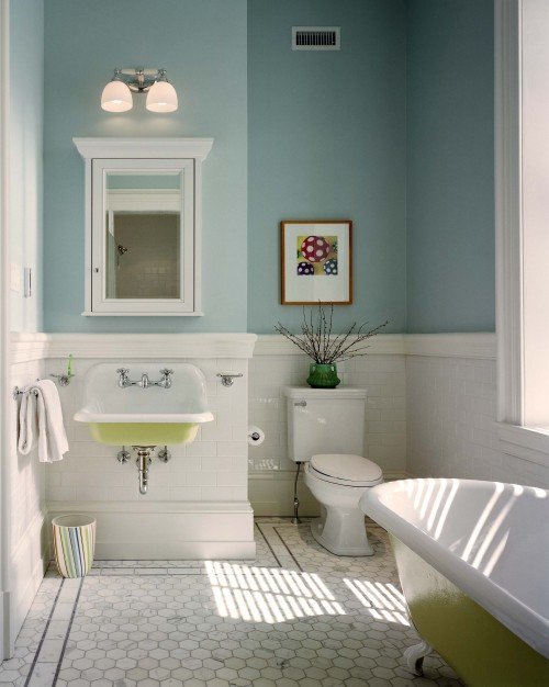 Salle de bain traditionnel wyndmoor residence bathroom - Mobil home chambres salles de bain ...