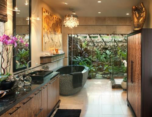 Salle De Bain Tropical Hallman Master Bath Architecture