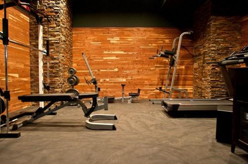 Salle De Sport Contemporain Cedar Walled Gym Architecture