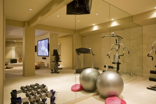 Salle De Sport Contemporain Home Gym Fitness Studio Architecture