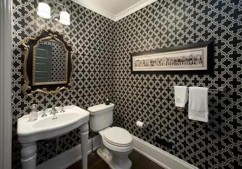 Toilettes Moderne - Chic Powder Room - Architecture